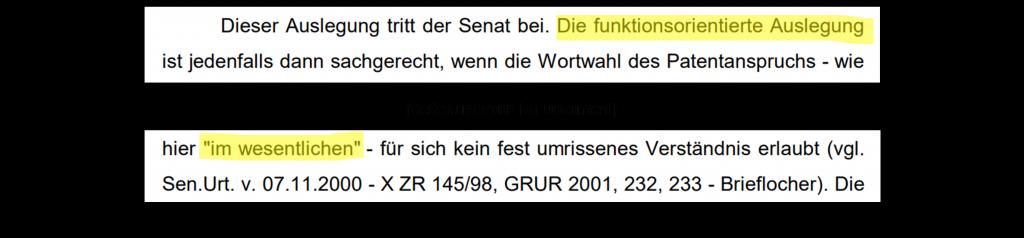 BGH Staubsaugerrohr – Beschluss des X. Zivilsenats vom 12.10.2004 - X ZR 176/02 – S.7 unten bis S.8 oben
